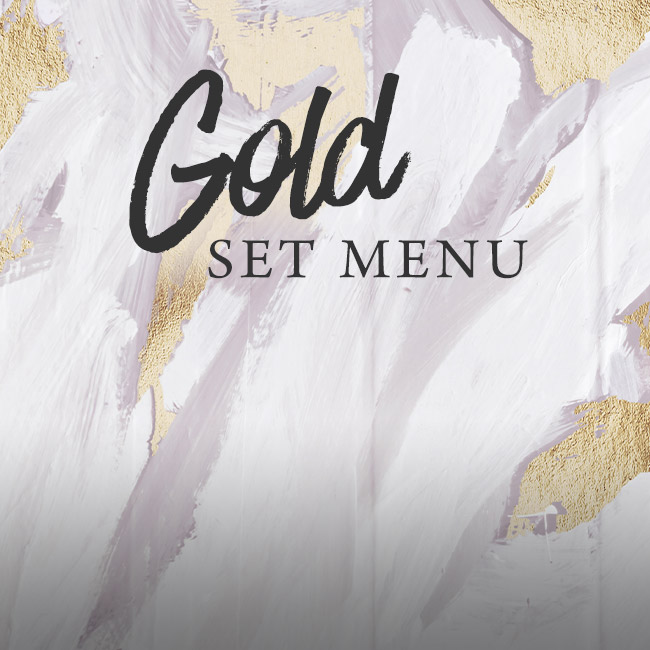 Gold set menu at The Swan