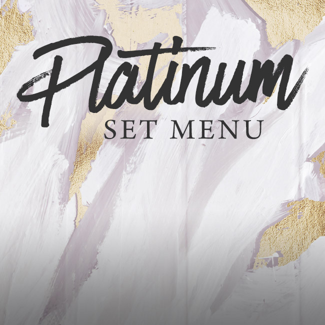 Platinum set menu at The Swan